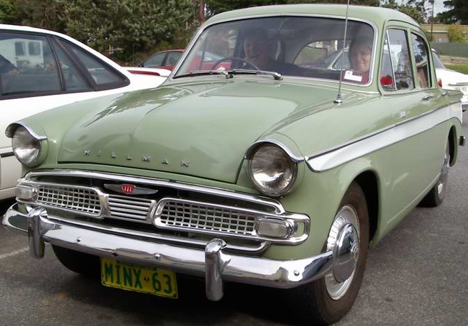 Hillman Car Club Of South Australia Ian And Brenda Kitto 1966